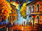 Etude In Red Print by Leonid Afremov