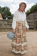 Antique Straight Pattern Posters - Farm Woman  Poster by Jim Pruitt