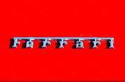 Close Up Painting Metal Prints - Ferrari logo Metal Print by George Atsametakis