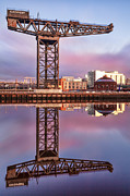River Clyde Glasgow Framed Prints - Finnieston Crane Glasgow Framed Print by John Farnan