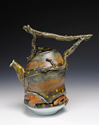 Porcelain. Wildlife Ceramics - Fish Teapot by Mark Chuck