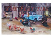 Farming Framed Prints Prints - Flat Tire Print by Gail Daley