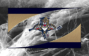 Puck Framed Prints - Florida Panthers Framed Print by Joe Hamilton