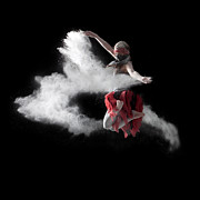 Action Photo Framed Prints - Flour Dancer Series Framed Print by Cindy Singleton
