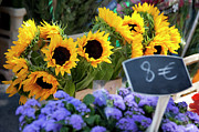 Saint-remy De Provence Prints - Flowers at Market Print by Brian Jannsen