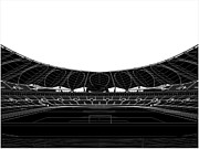 Stadium Design Digital Art Posters - Football Soccer Stadium Poster by Nenad  Cerovic