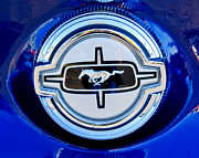 Ford Mustang Photo Framed Prints - Ford Mustang Emblem Framed Print by Jill Reger