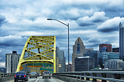 Double Framed Prints - Fort Pitt Bridge and Downtown Pittsburgh Framed Print by Thomas R Fletcher