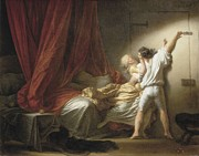With Love Framed Prints - Fragonard, Jean Honoré 1732-1806. The Framed Print by Everett