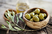 Mythja Prints - Fresh olives Print by Mythja  Photography
