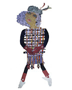 Glued Paper Posters - 3 ft Paper Doll Poster by Sandra fw Beaty