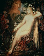 Nudes Framed Prints - Galatea Framed Print by Gustave Moreau