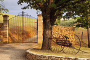 Provence Photos - Gated Entrance by Brian Jannsen