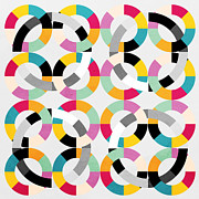 Geometric Shapes Posters - Geometric  Poster by Mark Ashkenazi