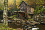 Grist Mill Posters - Glade Creek Poster by Jerry Mann