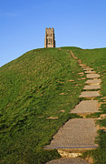 Saint Michael Photos - Glastonbury Tor by Robert Preston