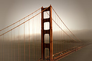 Old Digital Art Posters - Golden Gate Bridge Poster by Melanie Viola