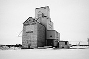Sask Prints - grain elevator Kamsack Saskatchewan Canada Print by Joe Fox