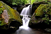 Gatlinburg Tennessee Photo Prints - Grotto Falls Print by Robert Harmon