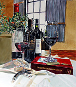 Tasting Framed Prints - Guide to the Napa Valley Framed Print by Gail Chandler