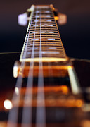 Black Blues Prints - Guitar Print by Stylianos Kleanthous