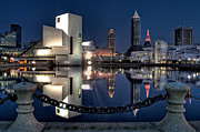 Cleveland Framed Prints - Harbor Reflections Framed Print by At Lands End Photography