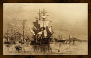 Historic Schooner Photo Framed Prints - Historic Seaport Schooner Framed Print by John Stephens
