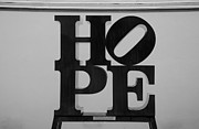 Indiana Scenes Posters - HOPE in BLACK and WHITE Poster by Rob Hans