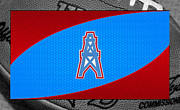 Offense Framed Prints - Houston Oilers Framed Print by Joe Hamilton