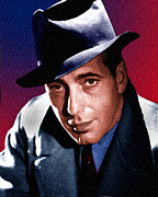 Allen Glass Framed Prints - Humphrey Bogart Framed Print by Allen Glass