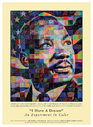 Martin Luther King Mixed Media Posters - I Have A Dream An Experiment in Color Poster by Jerry T Price