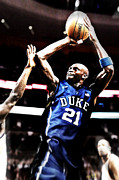 Kevin Garnett Framed Prints - If They Played In College Framed Print by Edward Pegues