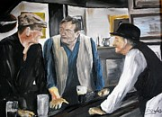 John Wayne Paintings - Im buying the drinks by Gary Boyle