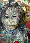Human Mixed Media - In the Eyes of Innocence by Molly Markow