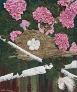 Branches Tapestries - Textiles - In the Pink by Anita Jacques