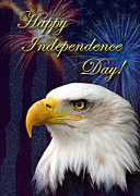 Wildlife Celebration Digital Art - Independence Day Eagle by Jeanette K