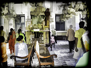 Synagogue Digital Art - Inside the historic Jewish Synagogue in Cochin by Ashish Agarwal