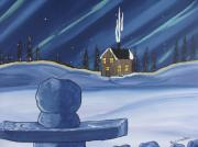 Winter Prints Posters - Inukshuk Poster by Beverly Livingstone