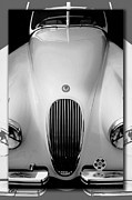 Curt Johnson Metal Prints - Jaguar XK 120 Frontal Metal Print by Curt Johnson