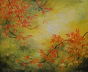 Sakura Paintings - Japanese Maple Tree by Tomoko Koyama