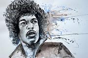 Jimi Hendrix  Print by Ismeta Gruenwald