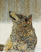 Wolf Paintings - Joy by Debbie Chamberlin