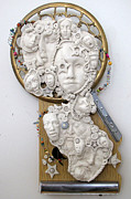 Assemblage Sculpture Originals - Just Face It by Keri Joy Colestock