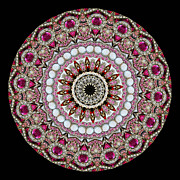 Diamonds Posters - Kaleidoscope Colorful Jeweled Rhinestones Poster by Amy Cicconi