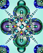 Metalwork Digital Art Framed Prints - Kaleidoscope Framed Print by Ellen Henneke