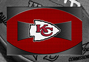 Chiefs Framed Prints - Kansas City Chiefs Framed Print by Joe Hamilton