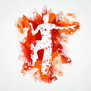 Karate Fighter Print by Aged Pixel