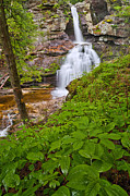 Calming Metal Prints - Kent Falls Metal Print by Bill  Wakeley