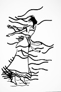 Gloria Drawings - Kiganda Dance - Uganda by Gloria Ssali