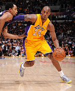 Lakers Prints - Kobe Bryant Poster Print by Sanely Great